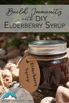 You can easily make this elderberry syrup to build immunity fast for this cold and flu season! This recipe is yummy and easy to make. My kids love it! Natural Flu Remedies, Holistic Remedies, Cold Remedies, Herbal Remedies, Natural Medicine, Herbal Medicine, Chinese Medicine, Allergy Remedies For Kids, Essential Oils For Colds