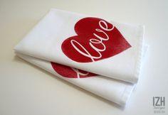 Love Heart Napkins - Set of 2