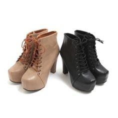HARU  Platform Heel Ankle Boots