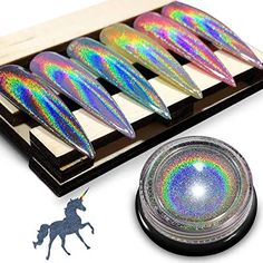 Chrome Nail Powder, Powder Manicure, Holographic Nail Powder, Crome Nails, Glitter Dust, Mirror Effect, Glow, Nail Manicure