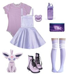A fashion look from March 2017 featuring tube socks and lace up flats. Browse and shop related looks. Pastel Goth Fashion, Kawaii Fashion, Cute Fashion, Girl Fashion, Fashion Looks, Little Girl Outfits, Cute Girl Outfits, Teen Fashion Outfits, Cute Casual Outfits