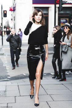 Alexa Chung - London Fashion Week - Street Style