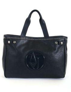 SAC SHOPPING CLOUTE ARMANI JEANS 125 euros http://www.apresmidishopping.com/4785-sac-shopping-cloute-armani-jeans.html