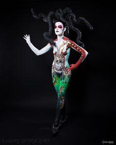Body Painting Academy Final 2011/12 by Noémie C,  Anémophobia,  3rd Prize