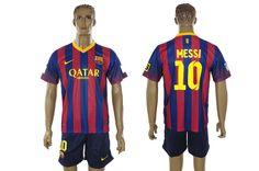 Maillot Barcelone 2013/2014 Messi 10 Domicile pas cher