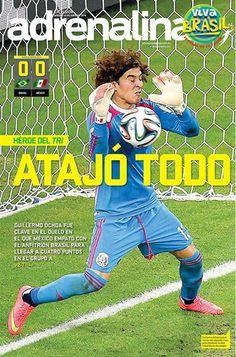 #VIVABRASIL CON MEMORABLE ACTUACIÓN DE OCHOA, MÉXICO EMPATA A BRASIL   El guardameta mexicano salvó por lo menos en cuatro ocasiones su portería y fue la figura en el empate sin goles entre la verdeamarela y el Tricolor.