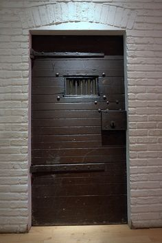 Holding Cell Door with Massive Key Lock & Prison cell door * Type of cell door used in high security which ...