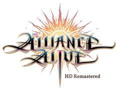 The Alliance Alive HD Remastered Game Design, Logo Design, Text Design, Graphic Design, Rpg Wallpaper, Playstation, Nintendo Switch, Fantasy Logo, Typography Logo