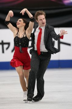 Nathalie Pechalat and Fabian Bourzat of France compete in the Ice Dance Short Dance during ISU World Figure Skating Championships at Saitama Super Arena on March 28, 2014 in Saitama, Japan.
