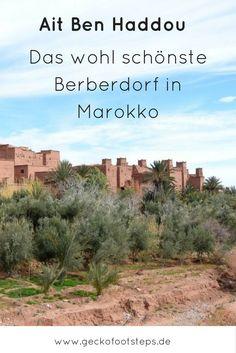 Ait Ben Haddou ist ein traditionelles Berberdorf in Marokko, das durch seine schöne Bauweise Touristen und Hollywood gleichermaßen anzieht. #marokko #aitbenhaddou #reisen #reiseblog
