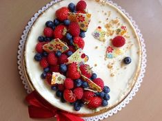 Cheesecake s ovocem Cheesecake, Fresh Fruit, Raspberry, Bakery, Food And Drink, Pie, Cupcakes, Blog, Mascarpone
