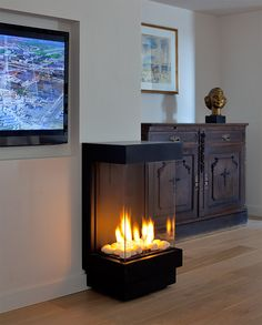 Stand Alone Fireplace On Pinterest Fireplaces Gas Fireplaces And S