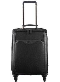 Diplomat Fashion Durable Synthetic Luggage Expandable Spinner Suitcase, Black 17 Inch DL-1610A ** Read more  at the image link.