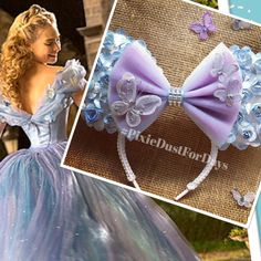 Cinderella Minnie Ears Cinderella Mickey Ears by PixieDustForDays