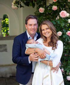 Princess Madeleine with Chris O'Neill and little prince Nicolas ❤️❤️❤️
