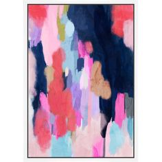 Equally at home in an artful collage or on its own as an eye-catching focal point, this lovely canvas print showcases an abstract motif in a rosy palette.  ...