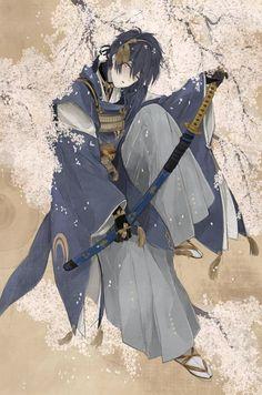 Mikazuki san almost always seems to be under sakura trees, but it does suit him after all because the sakura highlights his elegance all the more. Touken Ranbu Mikazuki, Cute Profile Pictures, Estilo Anime, Anime Eyes, Couple Art, Boy Art, I Love Anime, Manga, Chinese Art