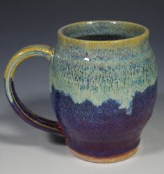5 Mugs Ceramic Stoneware Assorted Shapes Sizes Colors Coffee Tea Hot Chocolate Gift Everyday Microwave Dishwasher Proof No Lead Chocolate Gifts, Hot Chocolate, How To Get Thick, Wheel Thrown Pottery, Copper Red, Stoneware Clay, Light In The Dark, Earthy, Red And Blue