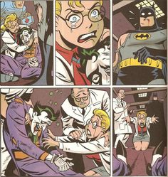 Batman looks genuinely scared..I would be too HECK don't hurt Harley's pudin'