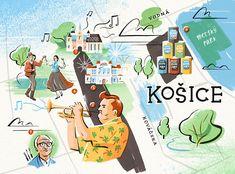Owen Gatley - Map of Kosice, Slovakia