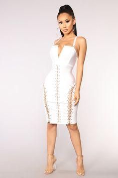 Hold It Together Bandage Dress - White. Fashion Nova ... bd26db20b51a