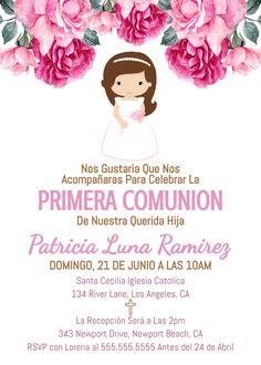 Invitaciones Primera Comunión Invitacion Primera Comunion