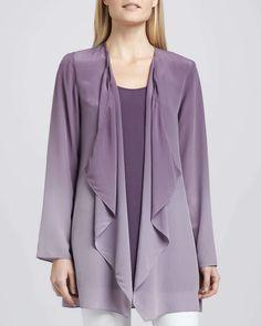 Ombre Silk Jacket, Petite