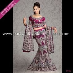 Bright Magenta Indian Wedding Dress