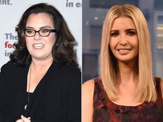 Rosie O'Donnell bumped into the daughter of her archnemesis Donald Trump in NYC...