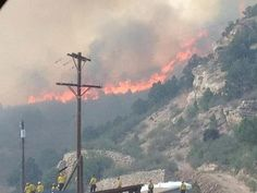 images of waldofire | Waldo Fire in Colorado Springs, CO / Cave of the Winds - (Unbelievable ...