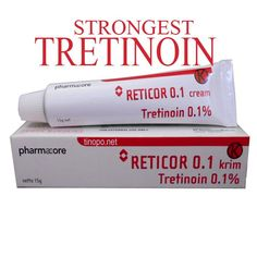 reticor tretinoin 0 1 cream 15gr for acne vulgaris wrinkle pustules comedo skin care. Black Bedroom Furniture Sets. Home Design Ideas
