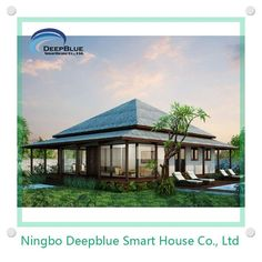 DeepBlue bungalow 1.earthquake,furicane,fire proof; 2.100 years lifetime for structure; 3.energy save; 4.green.             ISO standard light gauge steel for main structure.fireproof,heat insulation,wind and earthquake resistance.green,energy save. also economically.