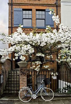 A red brick house in Notting Hill, London, UK