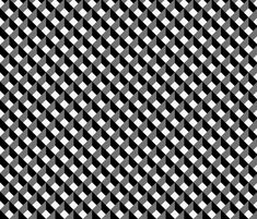 OPTICAL ILLUSION LOZENGE WHITE AND BLACK fabric by paysmage on Spoonflower - custom fabric