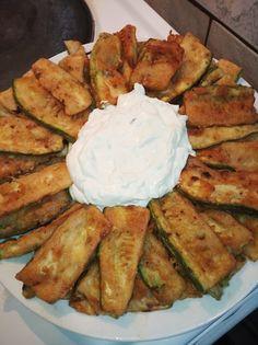 Κολοκυθάκια με τζατζίκι !!! ~ ΜΑΓΕΙΡΙΚΗ ΚΑΙ ΣΥΝΤΑΓΕΣ 2 Tzatziki, Allrecipes, Camembert Cheese, Zucchini, Meat, Chicken, Vegetables, Cooking, Food