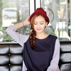 Korea womens shopping mall [styleberry] Beonggeoji Rollup Knit Hat / Size : FREE / Price : 19.42 USD #korea #fashion #style #fashionshop #styleberry #lovely #hat #knit #knithat #bucket #fashion_item #cute