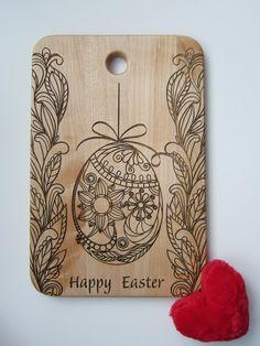 Etsy listing at https://www.etsy.com/listing/224648910/custom-cutting-board-easter-egg ... holiday
