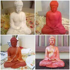 Buda de yeso pintado