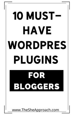 If you are a blogger and you have a blog on Wordpress Platform you should know some important things about Wordpress! Many people find WordPress to be one of the best blogging platforms out there – myself included. In this post I will show you 10 Must-Have Wordpress Plugins FOr Bloggers - Read the post on my Blog if you want to learn new things! #wordpressplugins #bloggingtips #makemoneyblogging Web Design For Beginners, Blogging For Beginners, Best Blog Platform, Design Your Own Website, Tech Sites, New Things To Learn, Wordpress Plugins, Make Money Blogging, Social Media Tips