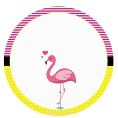 Flamingo: Personalizados gratuitos – Inspire sua Festa ® Flamingo Party, Flamingo Birthday, Flower Circle, Tropical Pattern, Printable Tags, Animal Party, Pink Flamingos, Little Pony, Party Themes