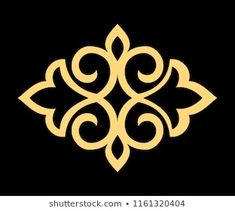 Golden pattern on a black background. Stencil Patterns, Stencil Designs, Paint Designs, Pattern Art, Horse Stencil, Stencil Painting, Fabric Painting, Thermocol Craft, Paper Beads Template