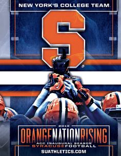 Syracuse 2013 Football Ticket Book Cover designed by Geoff Rogers.