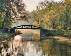 Bucks County Fall Foliage Photo Art Print - Delaware Canal Fall Morning - Bucks County, PA - Photography by Matt Schrier - http://shadesofgreenphoto.com