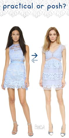 Stacey talks about the Self Portrait pastel blue lace mini dress she is currently obsessing over. She shares another similar dress for much less.