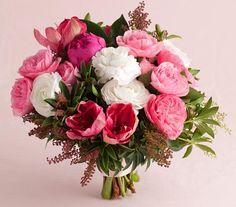 Pink Peony and Garden Rose Mix