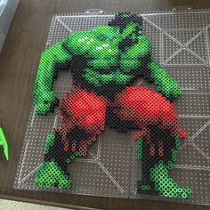 The Hulk perler beads by derekbryan144