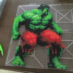 The Hulk perler beads by derekbryan144