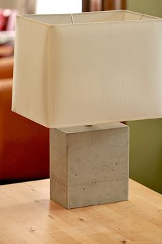 Made to Order Large Polished Concrete Table Lamp by atstuart