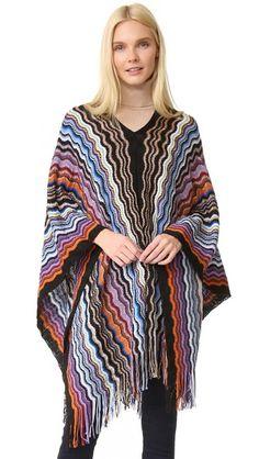 MISSONI Zigzag Poncho. #missoni #cloth #dress #top #shirt #sweater #skirt #beachwear #activewear