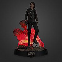 Jyn Erso stands defiant, ready to rise up against Imperial tyrrany as depicted in this light-up limited edition sculpture. | 11'' H x 7'' Diameter | #disneystorefigurines #disneystorecollectibles #sergeantjynerso #felicityjones